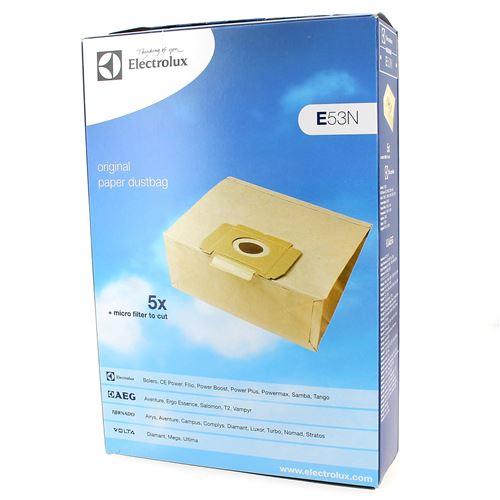 Sacs aspirateur par 5 + filtre pour Aspirateur Electrolux, Aspirateur A.e.g, Aspirateur Tornado, Aspirateur Progress, Aspirateur Volta