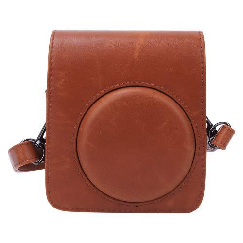 Housse de protection en cuir PU pour Fujifilm Instax mini70 Marron