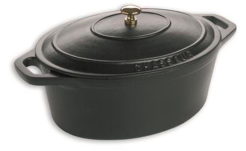 Chasseur casserole, ovale, 27 cm, mat noir