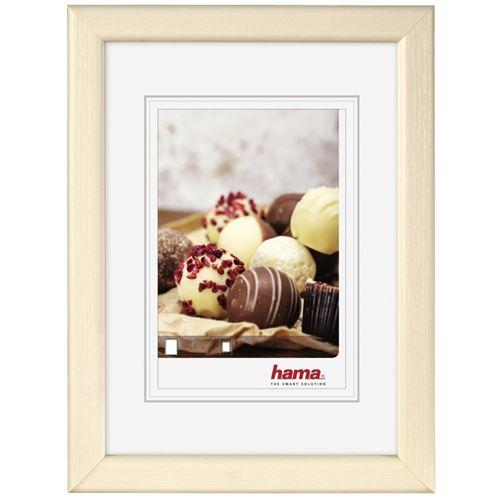 Hama Bella mia Crème de couleur, Blanc Présentoir à pied codé – Cadre en Plastique, Bois, Crème de couleur, Blanc, présentoir de pied codé, 10 x 15 cm, rectangulaire, réfléchissant