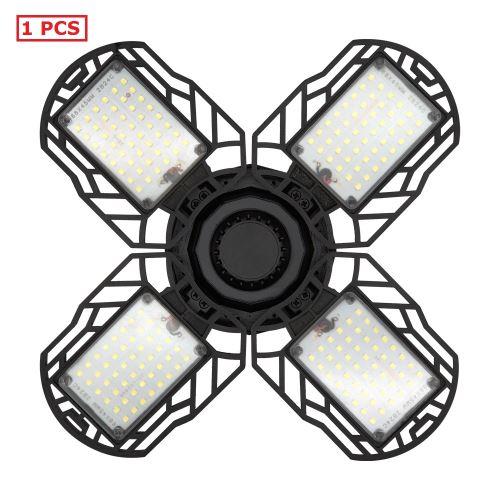 Ampoule LED 4 feuilles tout plastique super brillante économie d'énergie vis E27 6000K température de couleur ac85-265v éclairage de garage