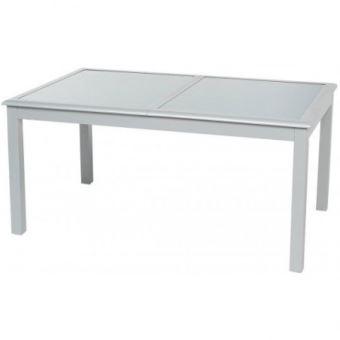 Table extensible verre 10 personnes Azua silver mat Hespéride