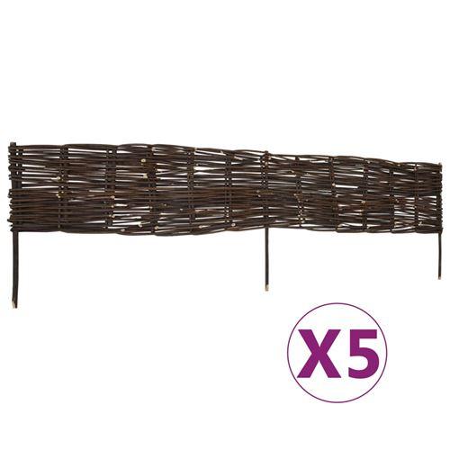 vidaXL Panneaux de limite de jardin Saule 5 pcs 120x35 cm