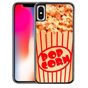 Coque pour iPhone X pop corn