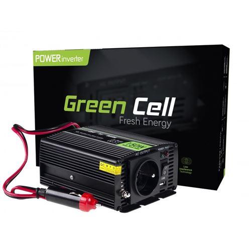 Green Cell® 150W/300W Modifiée Sinus Convertisseur de Tension DC 12V AC 220V/230V Power Inverter sinusoïdale, Onduleur Transformateur avec Connection USB