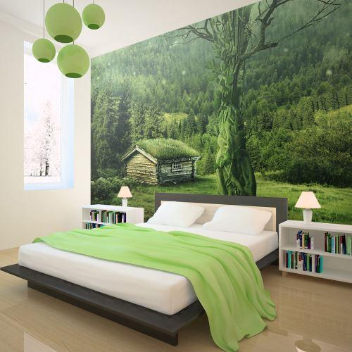 350x270 Papier peint Arbres et Forêt Paysages Moderne Green seclusion