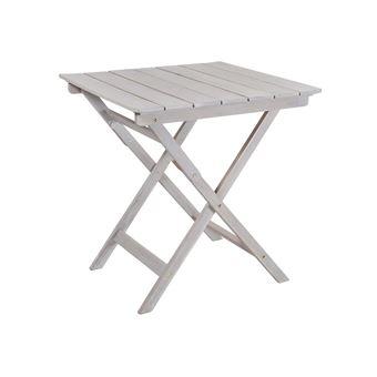 Table de jardin pliante en acacia gris FSC SILVERWOOD 70_X_70_CM ...