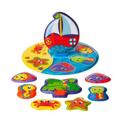 40104 Playgro Balle dActivit/és pour Bain Sans BPA /À partir de 6 Mois Jaune//Bleu//Rouge Bath Ball Diam/ètre : 10 cm