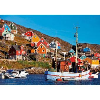 Puzzle adulte : maisons nordiques : paysage - 1000 pieces - educa - 1000 pièces - Achat & prix ...