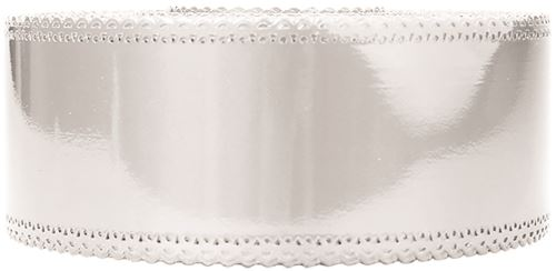 Ruban charlotte dentelle blanc