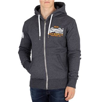 Superdry Homme Sweat à capuche Duo Zip Vintage authentique