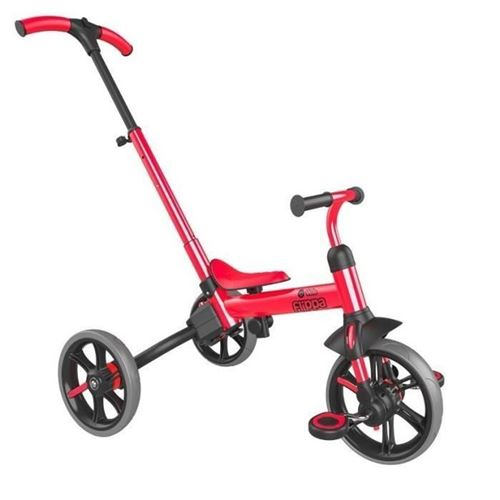 yvolution tricycle-draisienne évolutive yvelo flippa - rouge