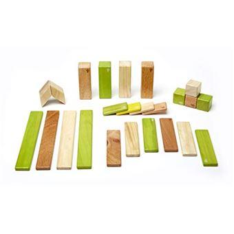 Ensemble de 24 blocs magnétiques en bois Tegu Jungle