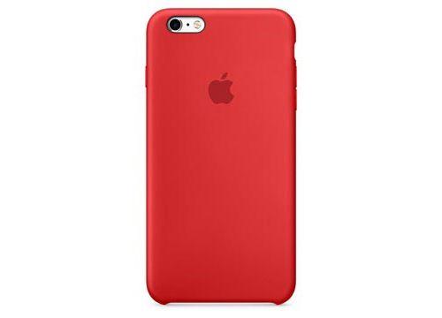Coque en silicone Apple pour iPhone 6s Rouge