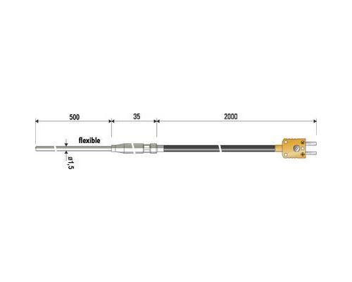 Sonde dimmersion B & B Thermo-Technik 06251189-41 -100 à +1000 °C sonde: K Etalonnage dusine (sans certificat) 1 pc(s)