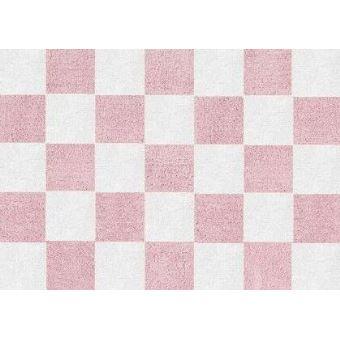 ARATEXTIL TAPIS POUR CHAMBRE ENFANT 100% Coton Rose blanc ...