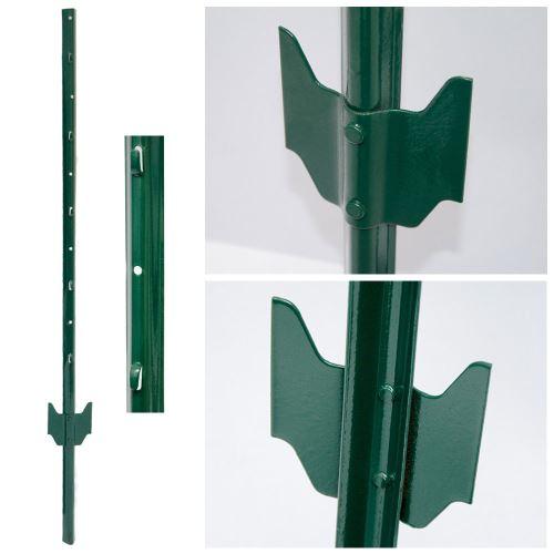 PIQUETS de métal pour soutenir grillages pour jardin Hauteur 140 cm