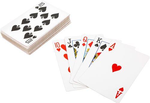 Small Foot cartes à jouer XXL Cartes à jouer 21 x 14 cm 54 pièces