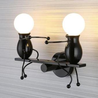 Simplicité Murale Appliques Noir Créatif Applique Moderne Lampe Design Mode nPO0wX8k