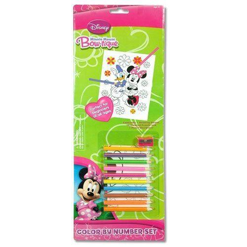 Ensemble de couleurs et de numéros de Noël par Minnie Mouse