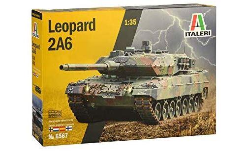 Italeri 6567S 6567S-1:35 Leopard 2A6, modélisme, Construction, Bricolage, Bricolage, Bricolage, Bricolage, Collage, kit en Plastique, Non laqué