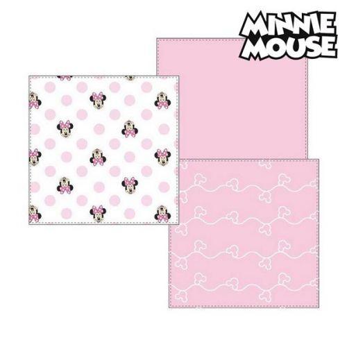 Serviette de bain en mousseline Minnie Mouse 75402 Rose (Pack de 3)