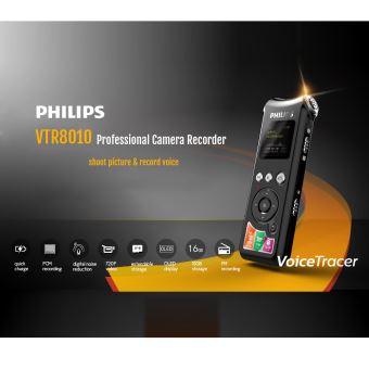 Philips Vtr8010 720p Appareil Photo Numérique Enregistreur Vocal 16gb Usb Pcm Audio Enregistreur Audio Dictaphone Mp3 Player Voice Activated Fm Ratio Pour Conférence Interview De Réunion Dictaphone Achat Prix Fnac