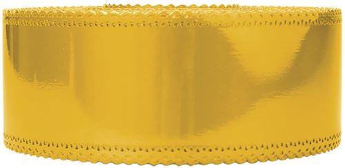 Ruban charlotte dentelle jaune