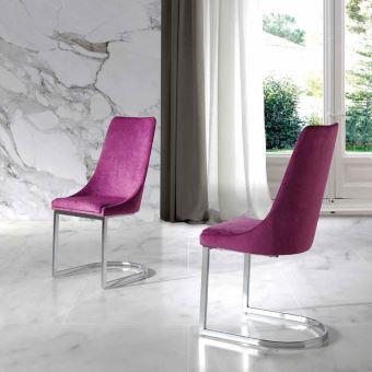 Chaise rose en tissu design SEOS (lot de 2) L 45 x P 55 x