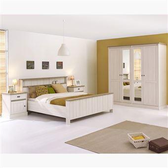 Chambre adulte complète contemporaine YUKA - L 160 x P 200 x H 70 cm