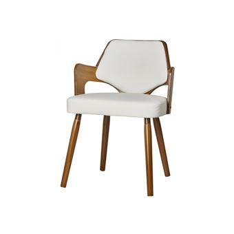 CIGARILLOS vintage Blanc Chaise séjour BOBOCHIC de rétro 7bf6gy