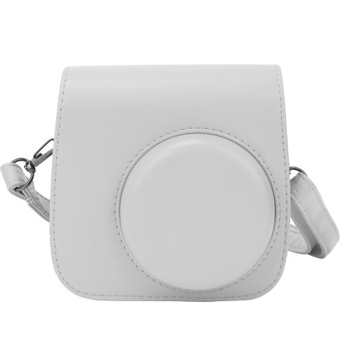Housse de protection en cuir PU pour Fujifilm Instax mini8 / 8 + / 9 Blanc