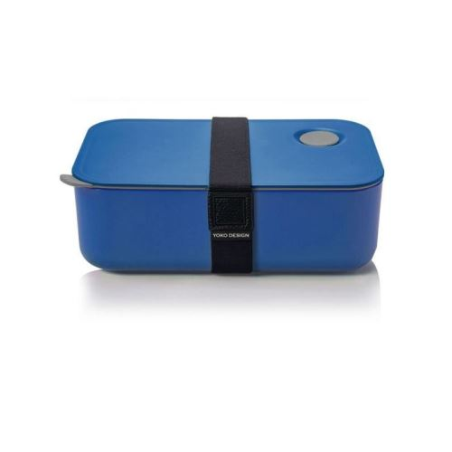 yoko design lunch box avec séparation réglable et amovible 1 l bleu