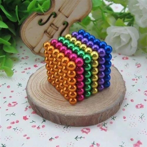 Cube magnétique magique 216 billes 5mm 6 couleurs