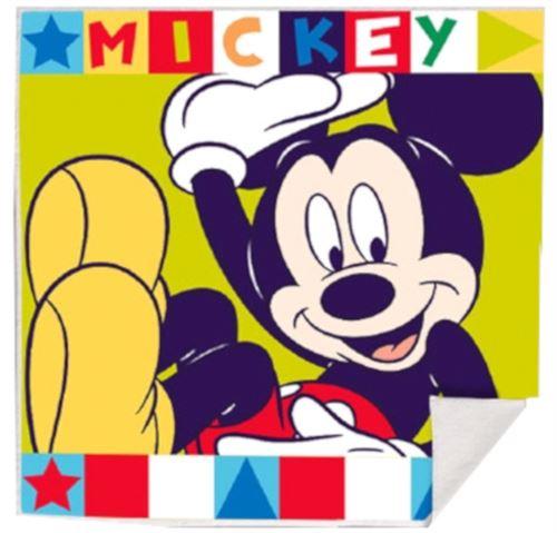 Disney serviette Mickey & Minnie Mouse 30 cm coton jaune