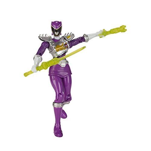 Power Rangers Dino Super Charge - Figurine articulée violette à 5 lecteurs de Dino Drive