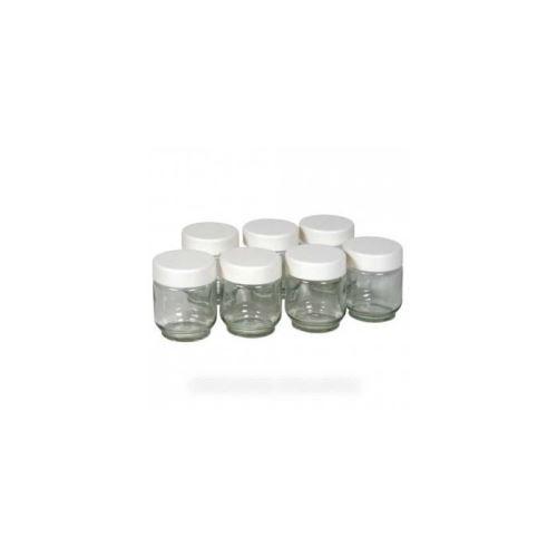 Pots en verre x9 + couvercles vissants pour yaourtiere lagrange - 8380578