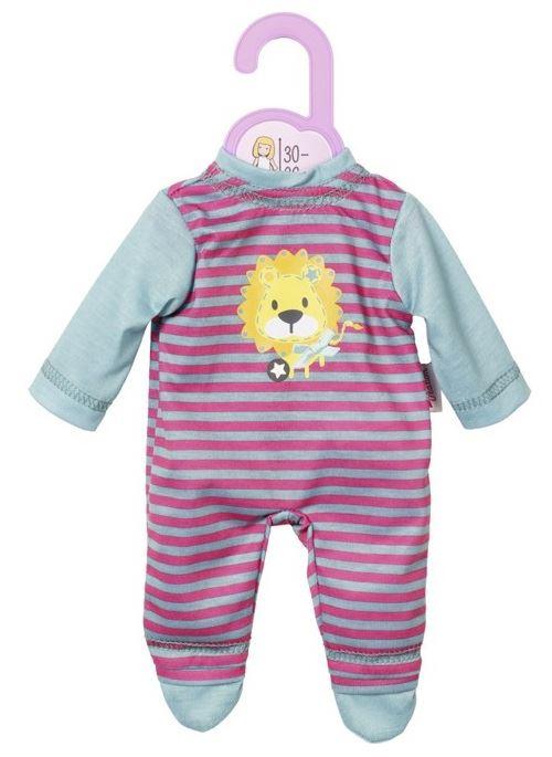 Habit poupee 30 - 36 cm : pyjama lion avec rayures roses dolly mosa - zapf za35