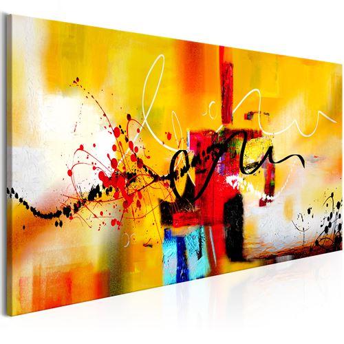 Tableau - Crazy Serpentines (1 Part) Orange Wide - Décoration, image, art | Abstraction | Modernes | 100x45 cm |