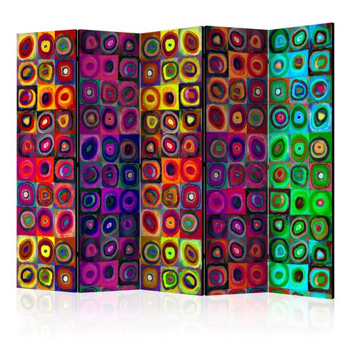 Paravent 5 volets - Colorful Abstract Art II [Room Dividers] - Décoration, image, art | 225x172 cm | XL - Grand Format |