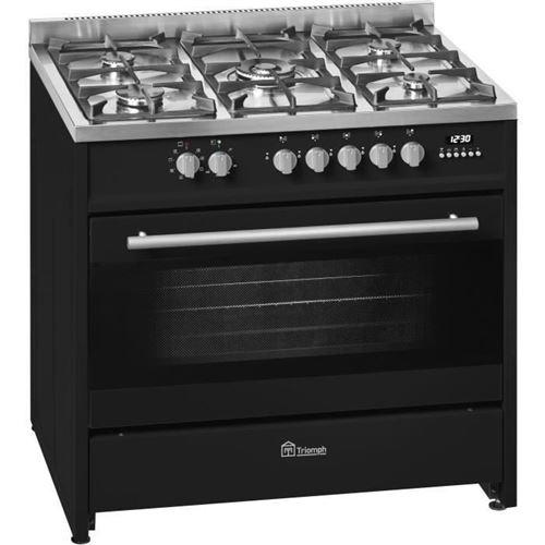 TRIOMPH TME906GNA - Cuisinière - pose libre - largeur : 90 cm - profondeur : 60 cm - hauteur : 89 cm - avec système auto-nettoyant - noir