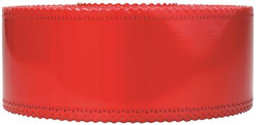 Ruban charlotte dentelle rouge