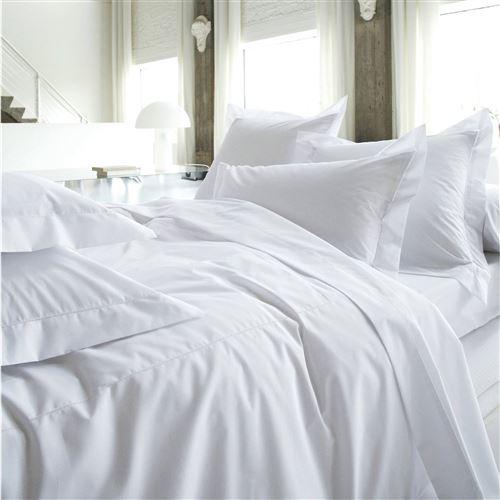 Housse de couette percale Marquise BLANC DES VOSGES - Blanc - 200 x 200 cm