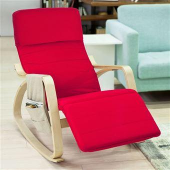 Sobuy® Fst16 Rocking ChairFauteuil À Repose Bascule Avec Pieds R v0N8wmn