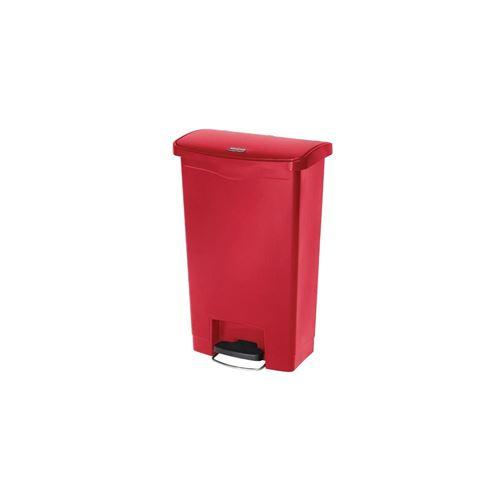 Poubelle 50L pdale frontale - Slim Jim, rouge