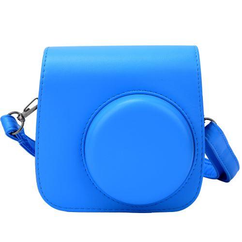 Housse de protection en cuir PU pour Fujifilm Instax mini8 / 8 + / 9 Bleu