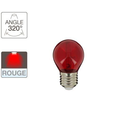 Ampoule LED P45 - cuLot E27 - éclairage rouge