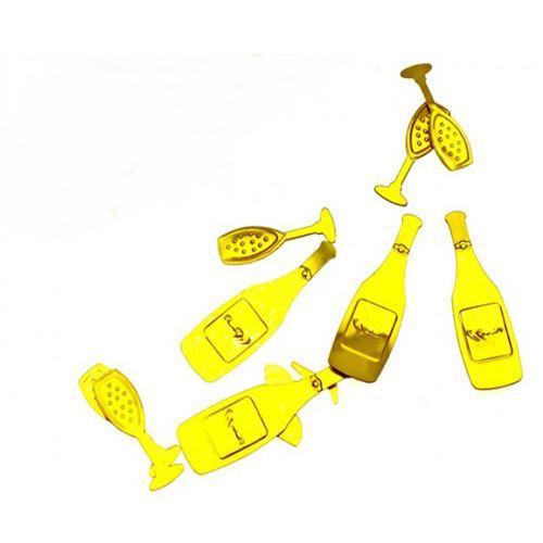 Lot de 10 sachets de Confettis de table Soiree De Fête Or - 10 grs
