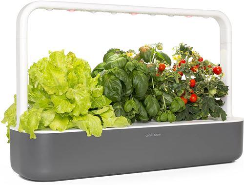 Click & Grow Smart Garden 9 Jardinière d'Intérieur, Gris Anthracite, 62 x 18,4 x 39.6 cm