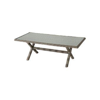 Table de jardin Hespéride rectangle en résine tressée Betong ...